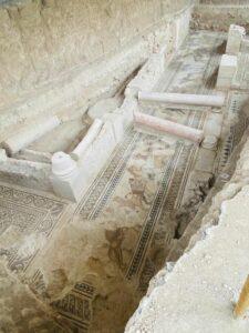 Mosaico encontrado en la Villa Romana de Salar