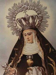 Imagen antigua de la Virgen del Espino