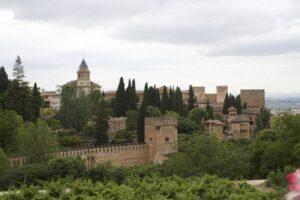 Vista de la Alhambra desde el Palacio del Generalife